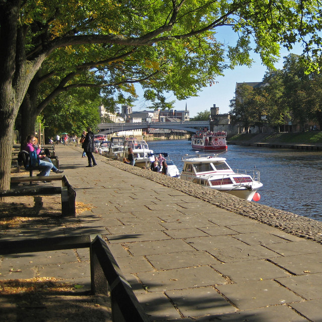 Riverside walk, York