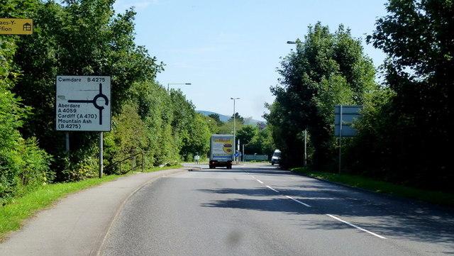 A4059, Hirwaun Road