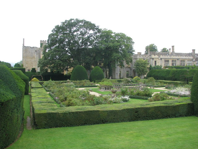 The gardens of Sudeley Castle