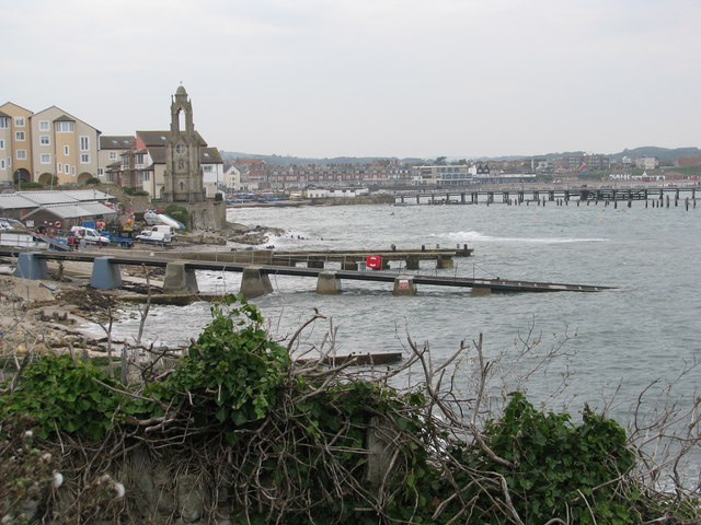 Swanage waterfront by the Lifeboat Station