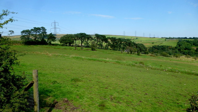 Pastures on the edge of moorland
