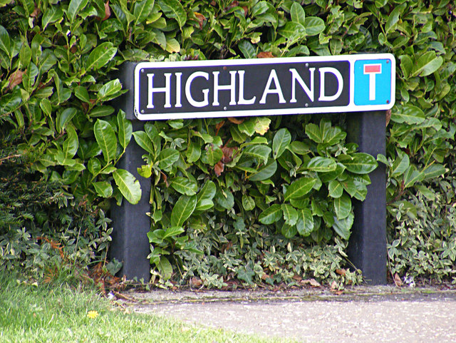 Highland sign