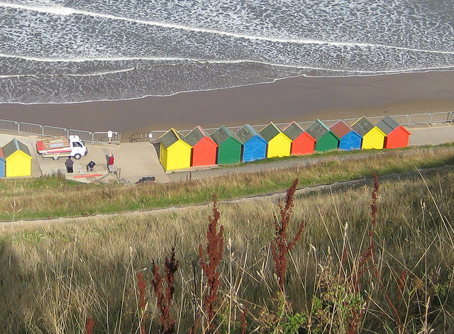 A fresh coat of paint on the beach huts