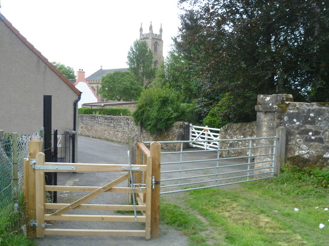 Gate at the end of the High Street