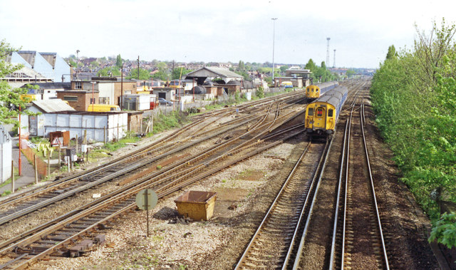 Hither Green: Down the main line from the station, 1992