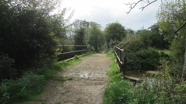 Footbridge crossing the River Test