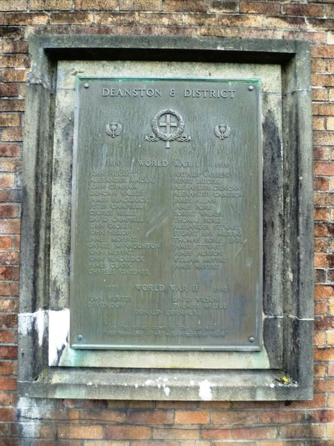Deanston War Memorial