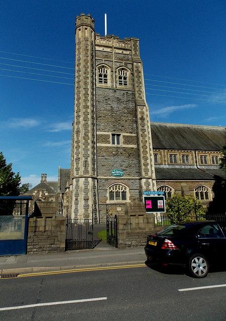 St Catherine's Church tower Gorseinon