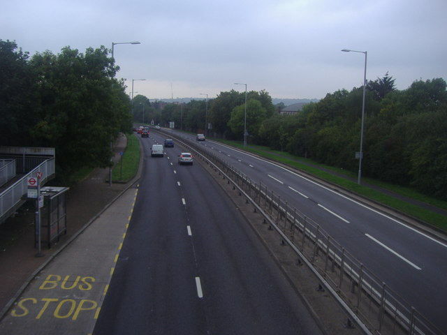The A41 heading north, Edgware