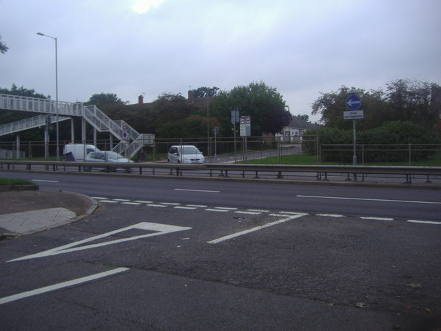The A41 at the end of Highview Avenue