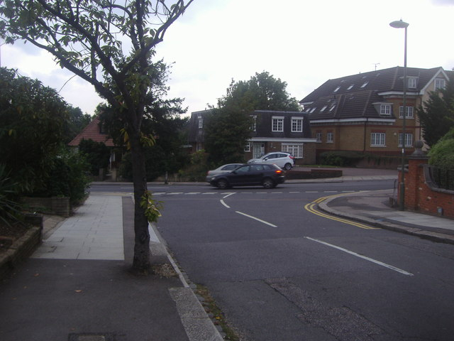 Highview Avenue at the junction of Hale Lane