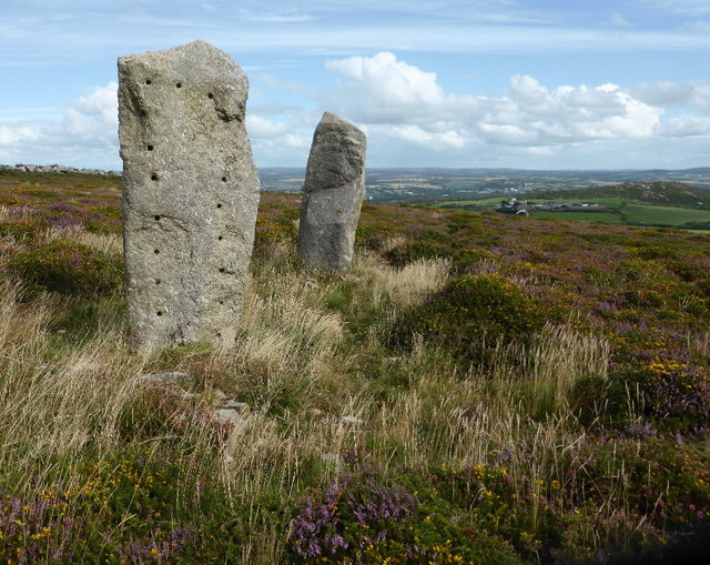 Standing stones on Trink Hill