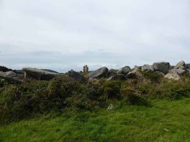 Drystone wall on Trink Hill