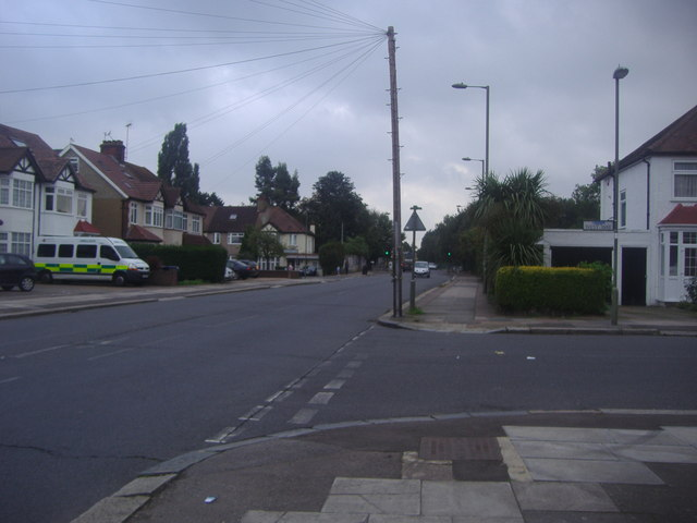 Deans Lane at the junction of West Way