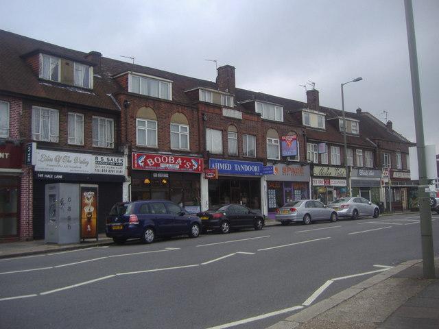 Shops on Hale Lane, Edgware