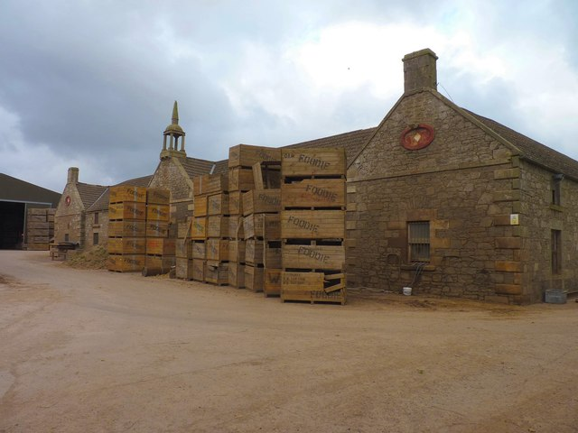 Ornate farm buildings