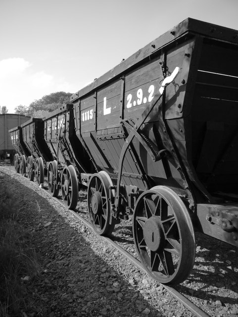 Chaldron Waggons At Beamish Open Air Museum