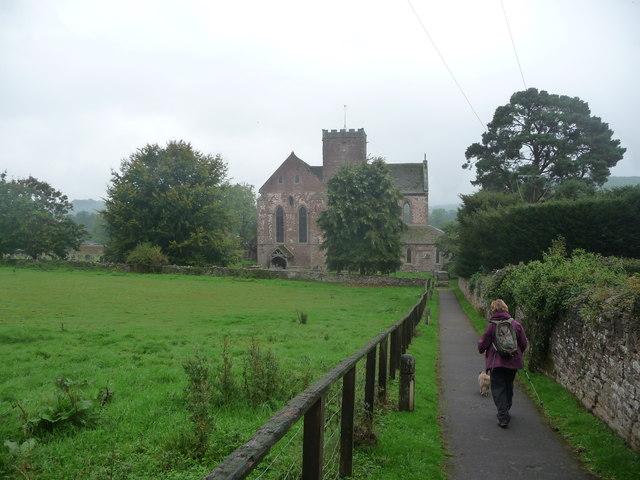 Approaching Dore Abbey