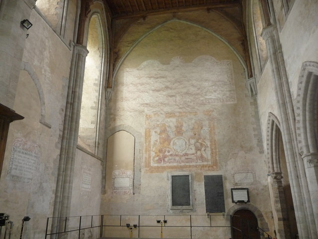 The interior walls of Dore Abbey