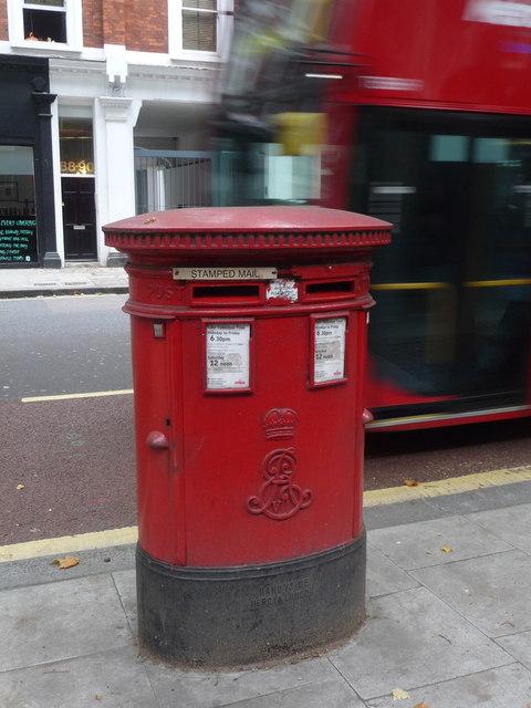 London: postbox № WC1 34, Gray's Inn Road