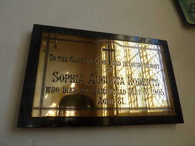St Mary, Burton Bradstock: memorial (I)