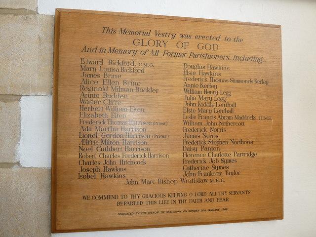 St Mary, Burton Bradstock: memorial (II)