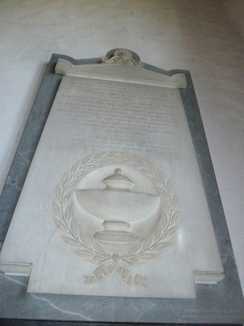 St Mary, Burton Bradstock: memorial (IV)