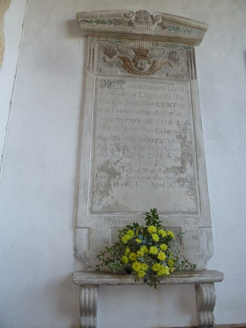 St Mary, Burton Bradstock: memorial (VI)