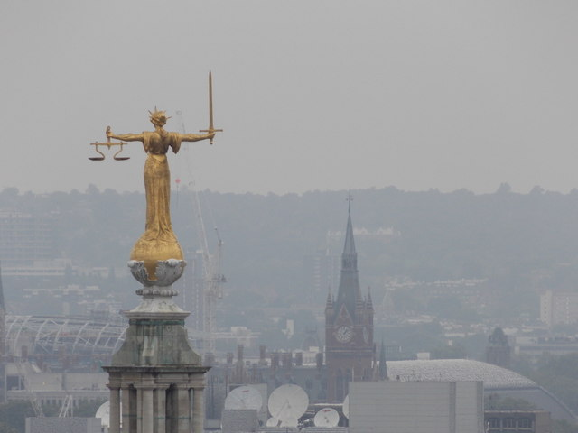 City of London: Lady Justice from St. Paul's
