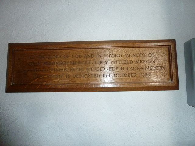 St Mary, Burton Bradstock: memorial (IX)