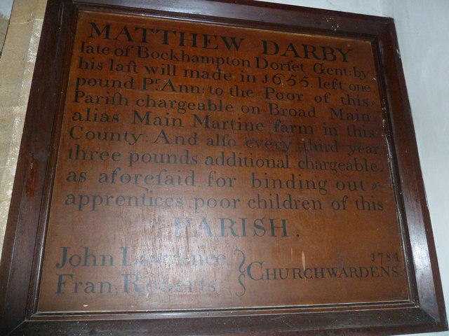 St Mary, Burton Bradstock: benefaction