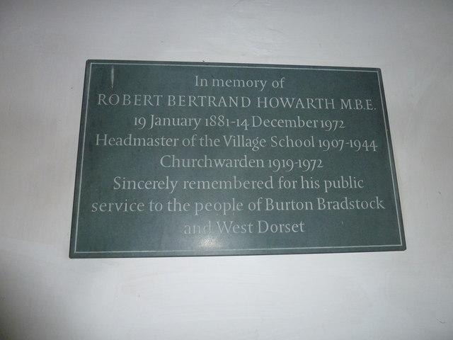 St Mary, Burton Bradstock: memorial (XI)