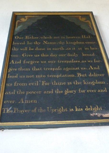 St Mary, Burton Bradstock: The Lord's Prayer