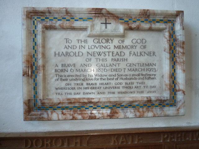 St Mary, Burton Bradstock: memorial (XIII)