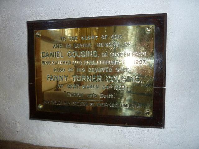 St Mary, Burton Bradstock: memorial (XV)