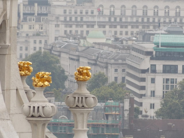 City of London: some golden cathedral stonework