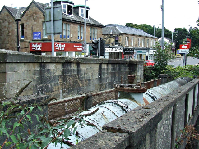 Water supply pipe at Bearsden railway station