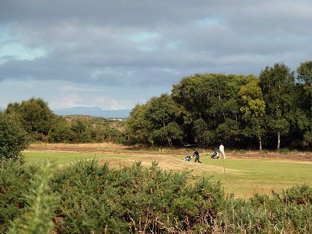 Golfing at Lossiemouth