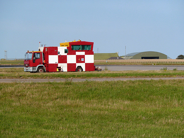 A mobile air traffic control tower at RAF Lossiemouth