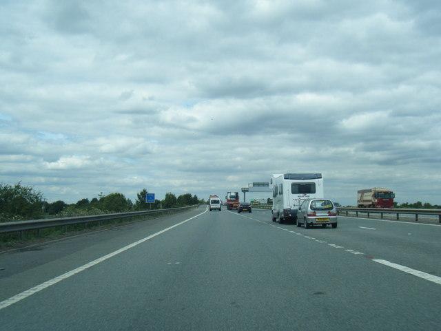 M18 northbound near Nettleholmes