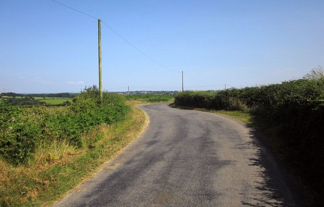 Road near The Long Stone