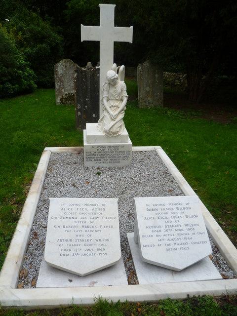 Filmer grave, East Sutton Church