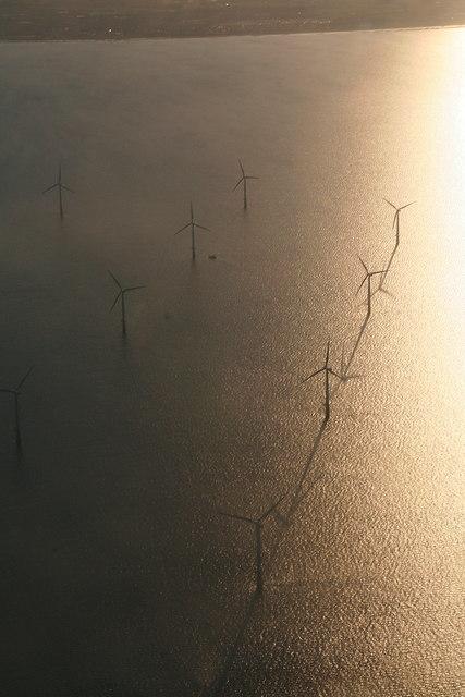 Lynn and Inner Dowsing Wind Farm: aerial 2012