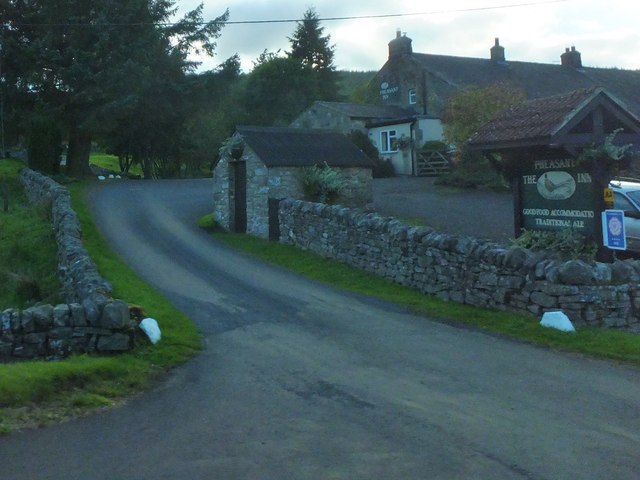 Road to 'The Pheasant', Stannersburn