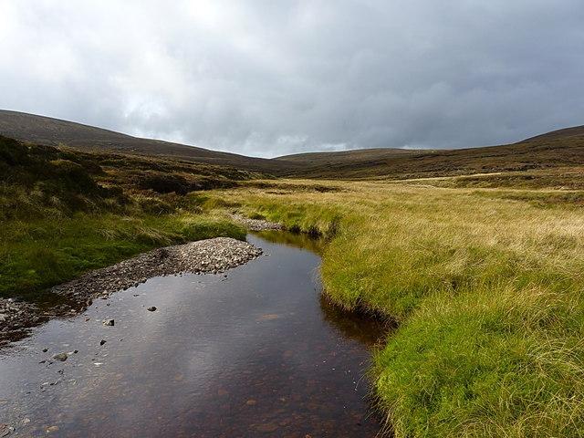 The Feshie Water - upstream towards Leathad an Taobhain