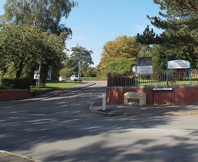 Entrance to Gorseinon Hospital