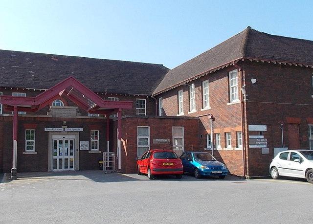 Main entrance to Gorseinon Hospital