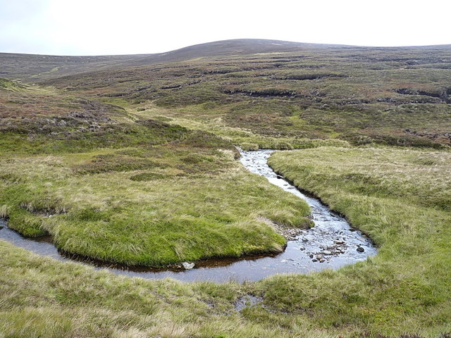 The first big bend in the Feshie Water