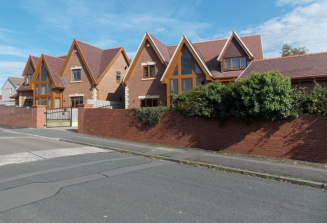 Modern houses in Princess Street, Gorseinon