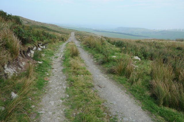 Track across upland grazing